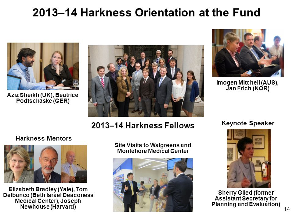 2013–14 Harkness Orientation at the Fund