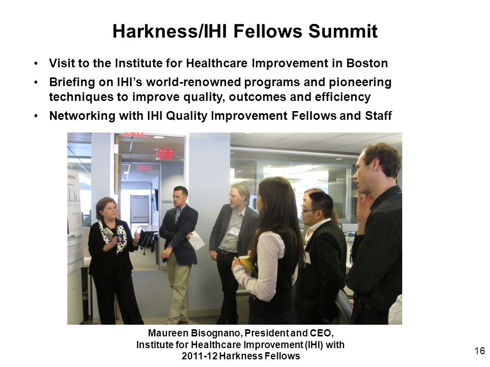 Harkness/IHI Fellows Summit