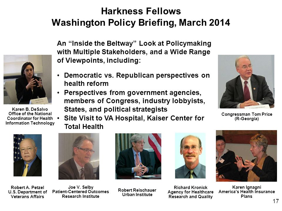 Harkness Fellows Washington Policy Briefing, March 2014