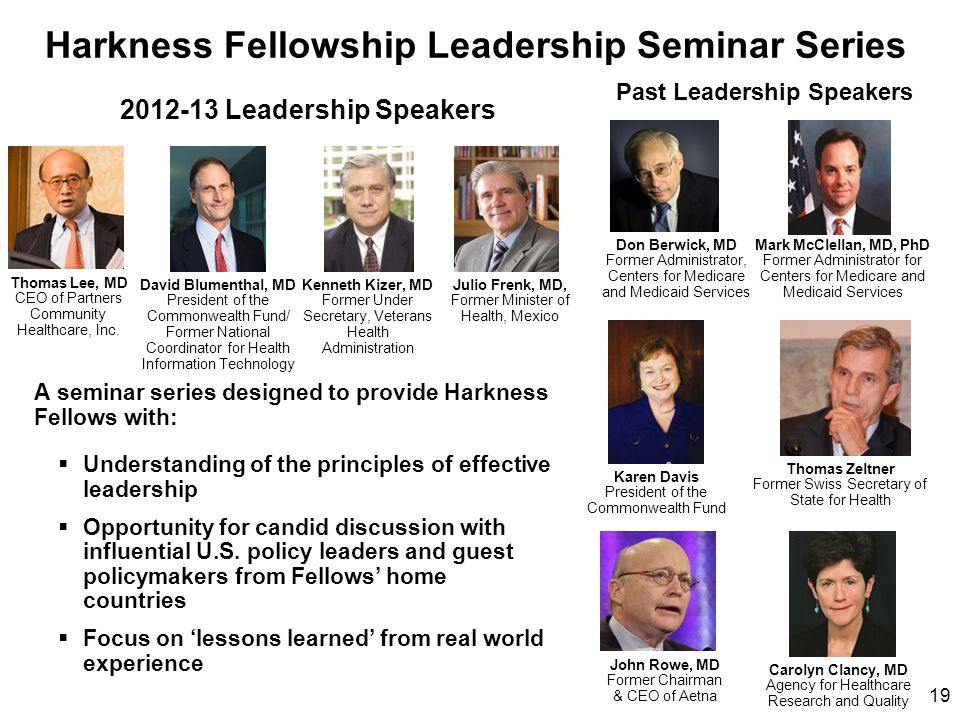 Harkness Fellowship Leadership Seminar Series