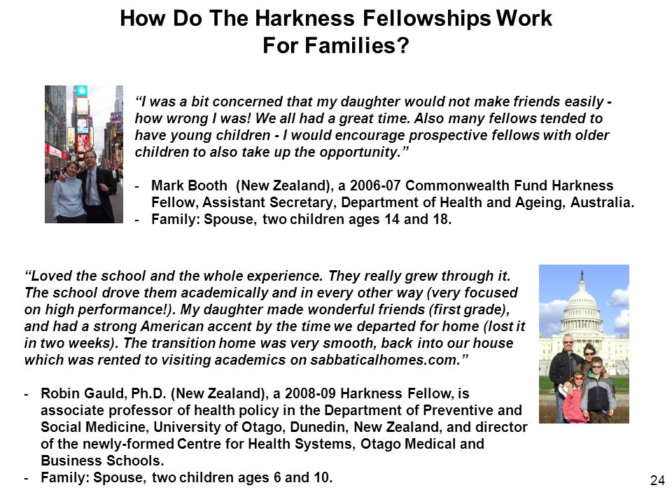 How Do The Harkness Fellowships Work For Families