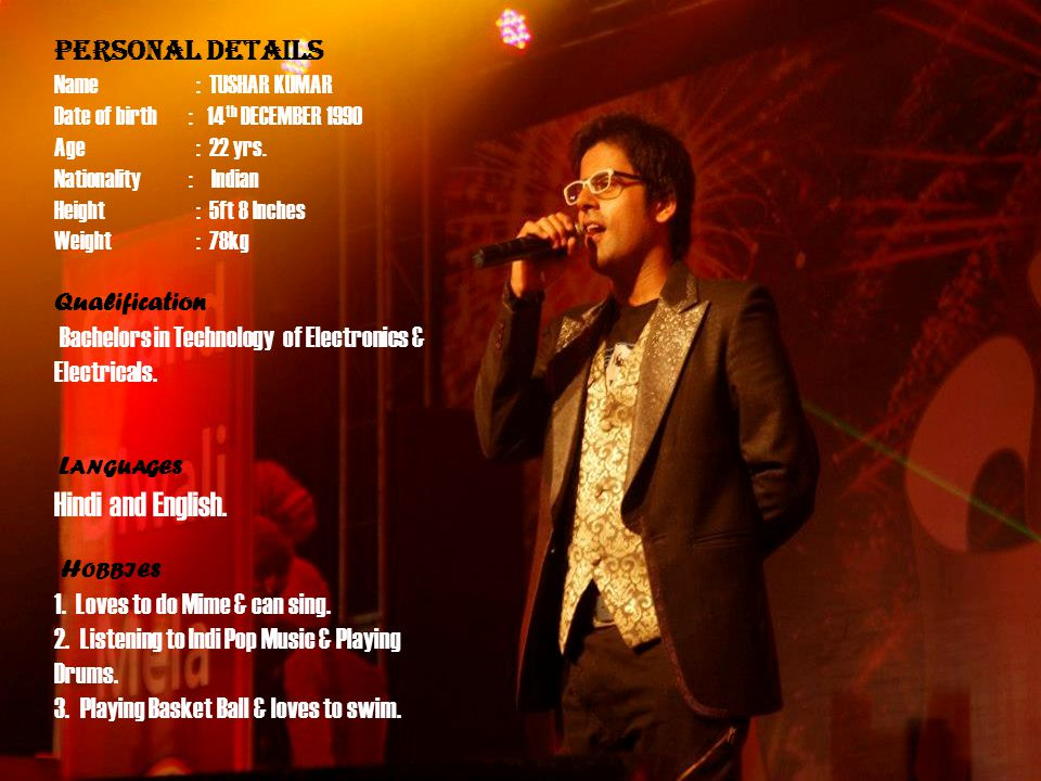 P R O F I L e Hindi and English. PERSONAL DETAILS