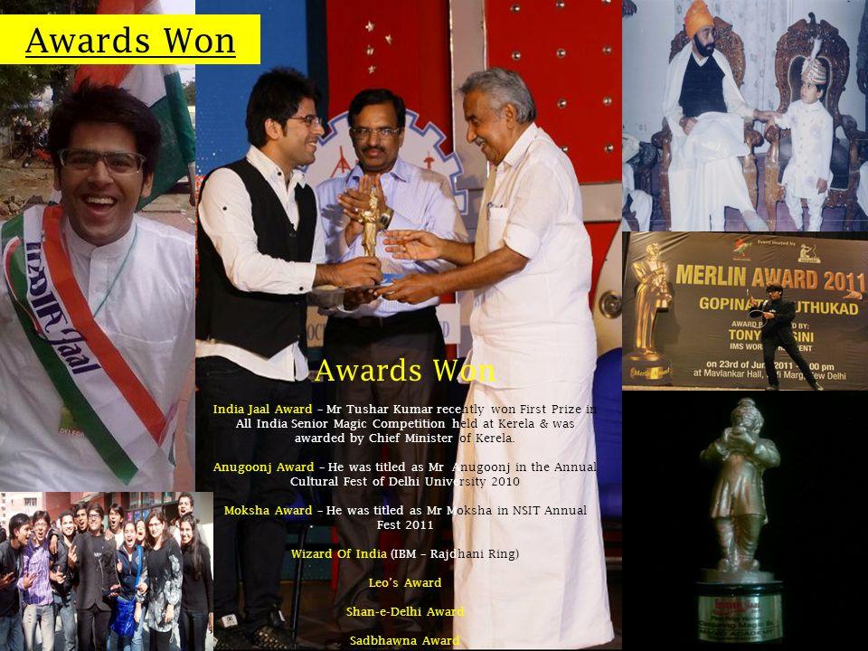 Awards Won Awards Won.