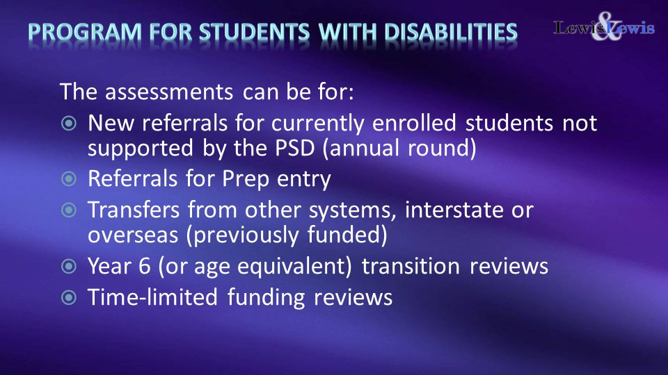 Program for students with disabilities