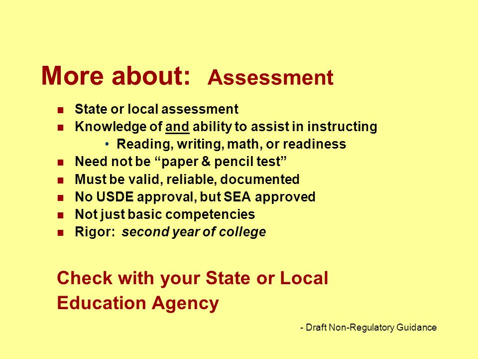 More about: Assessment
