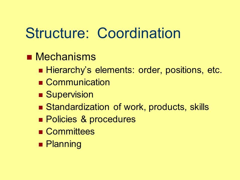 Structure: Coordination