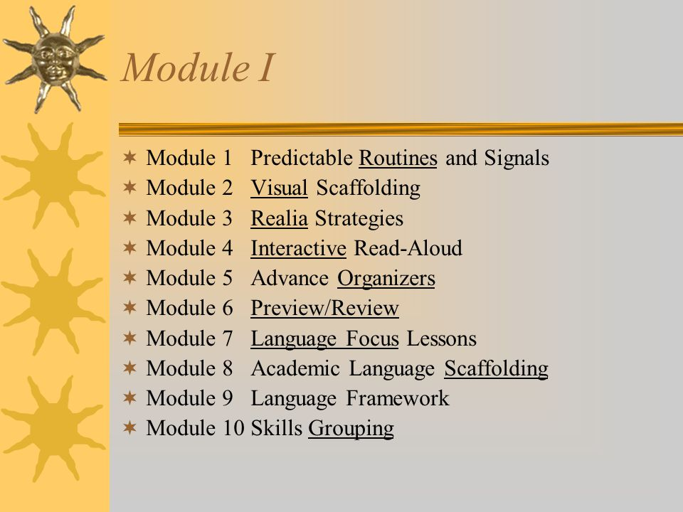 Module I Module 1 Predictable Routines and Signals