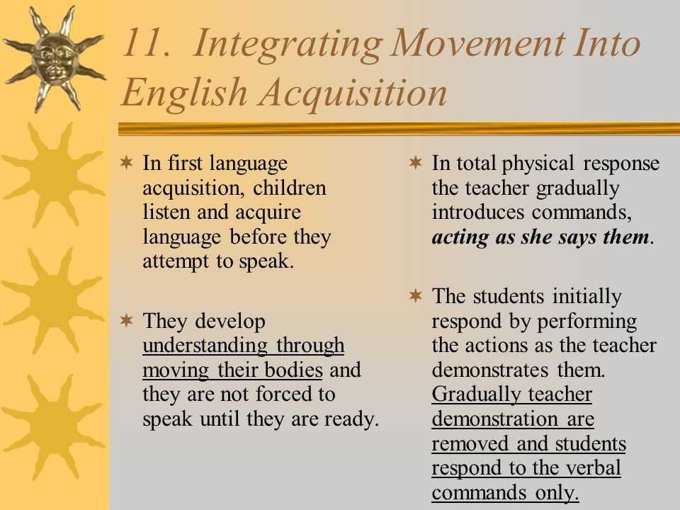 11. Integrating Movement Into English Acquisition