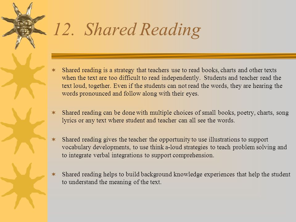 12. Shared Reading