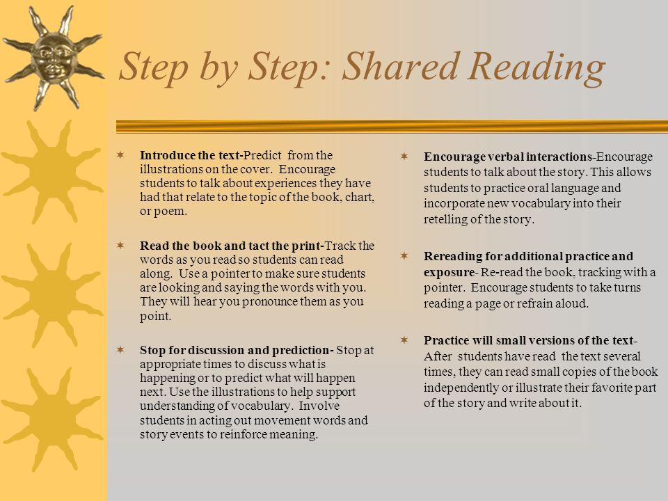 Step by Step: Shared Reading
