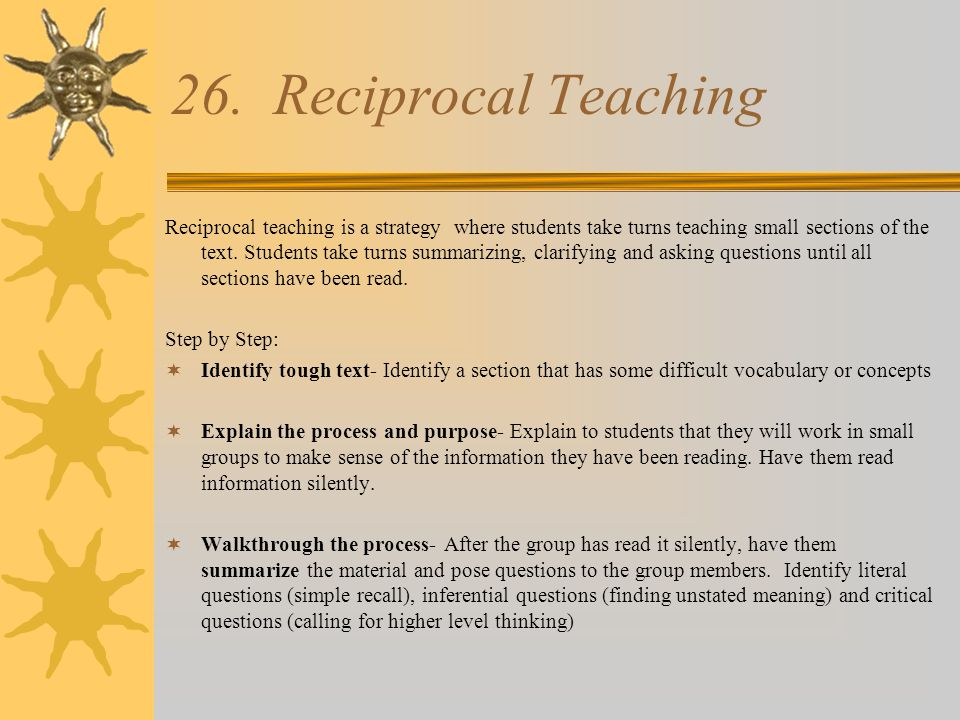 26. Reciprocal Teaching