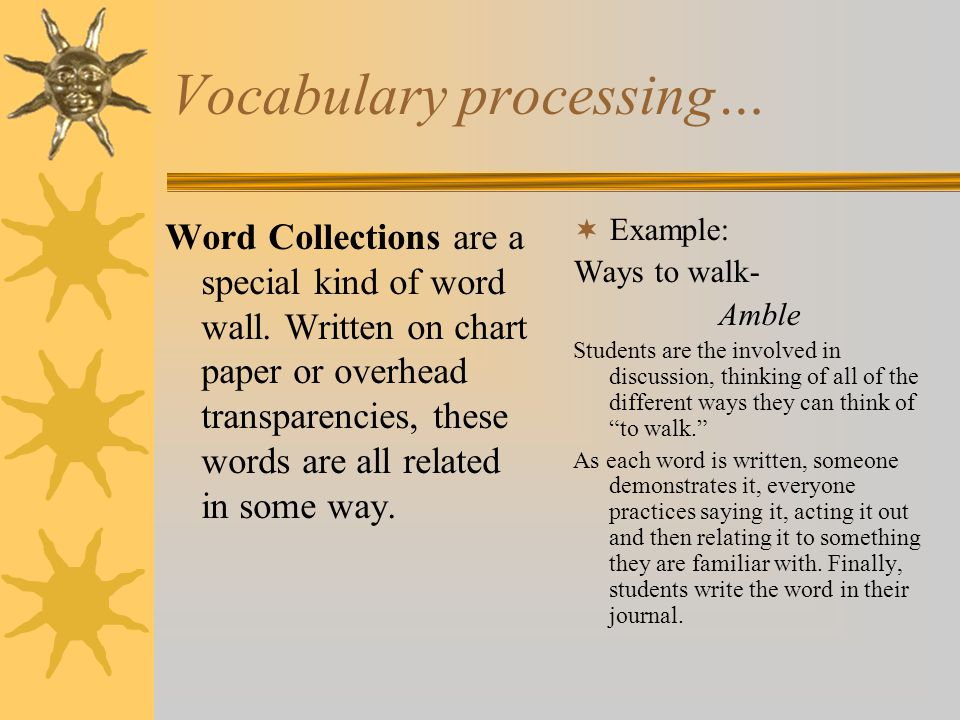 Vocabulary processing…