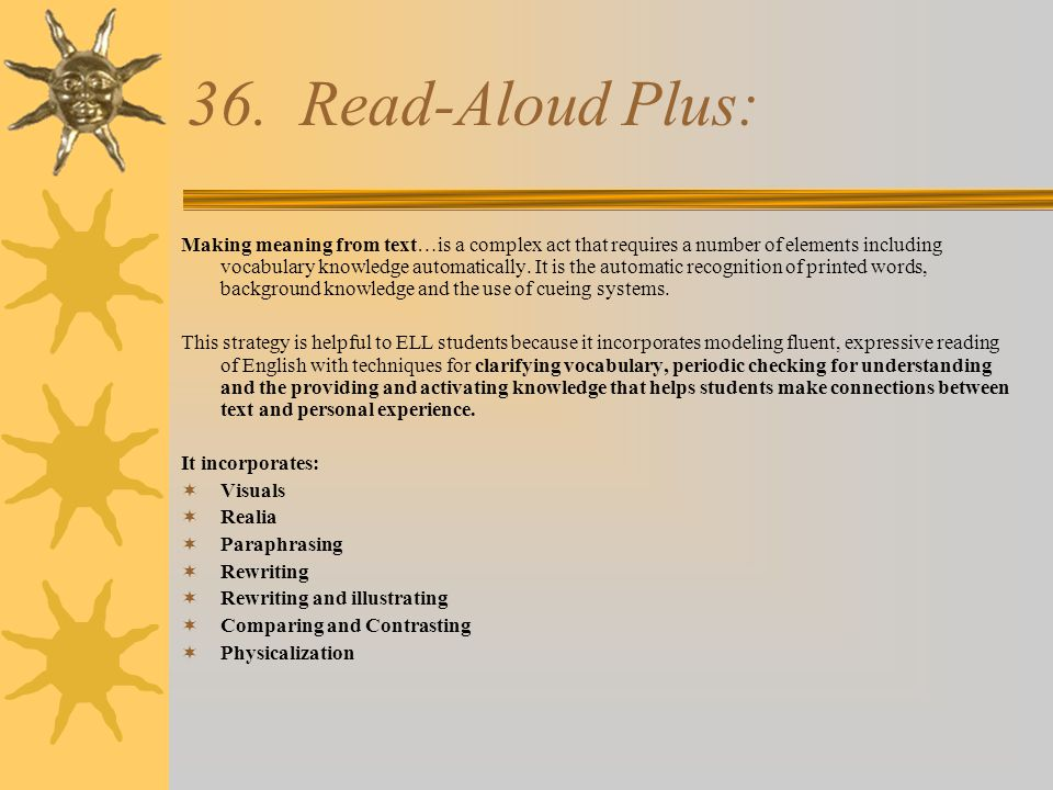 36. Read-Aloud Plus: