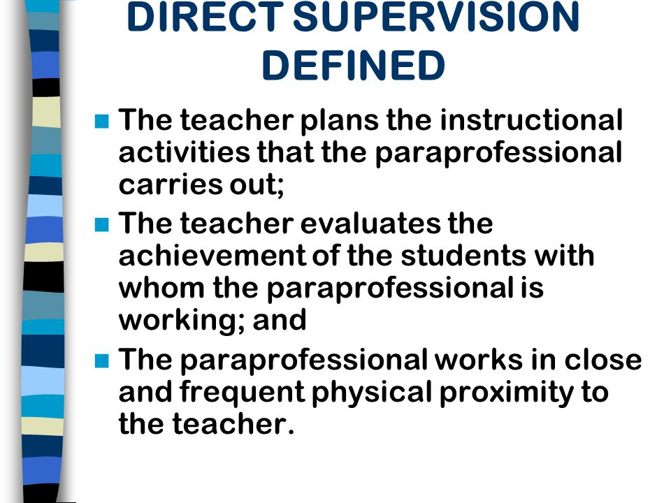 DIRECT SUPERVISION DEFINED