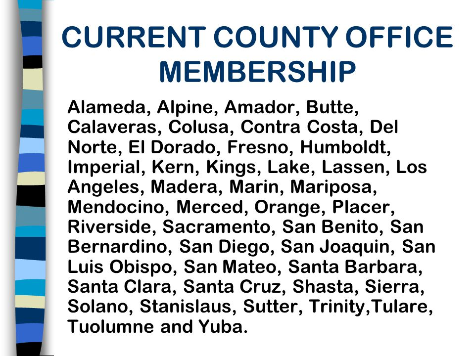CURRENT COUNTY OFFICE MEMBERSHIP