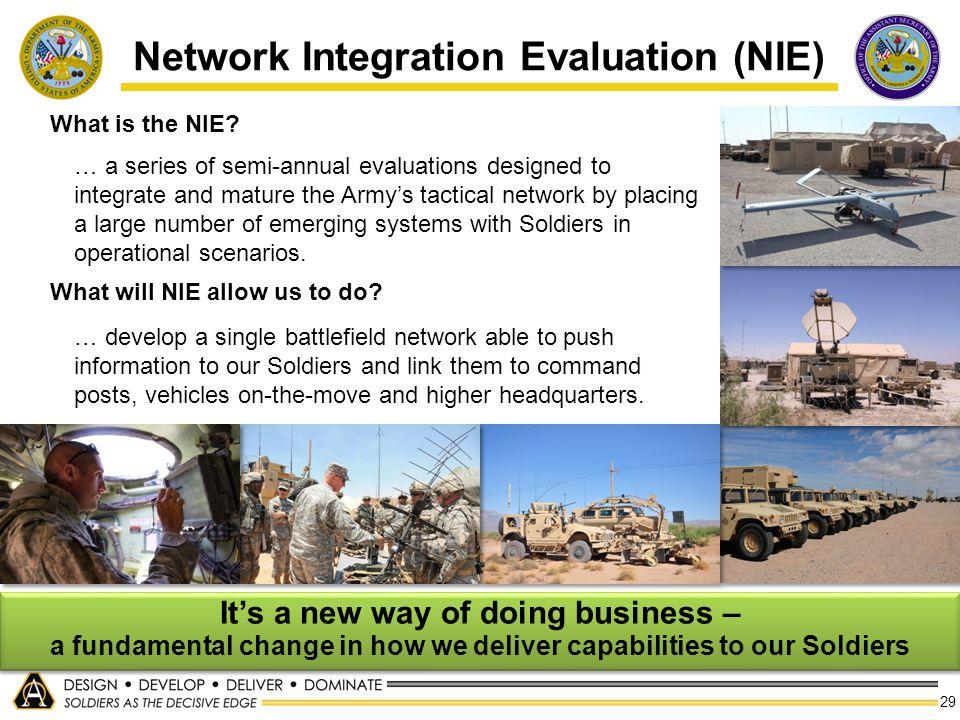 Network Integration Evaluation (NIE)