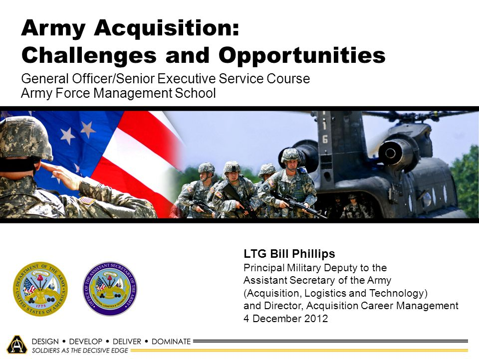 Army Acquisition: Challenges and Opportunities