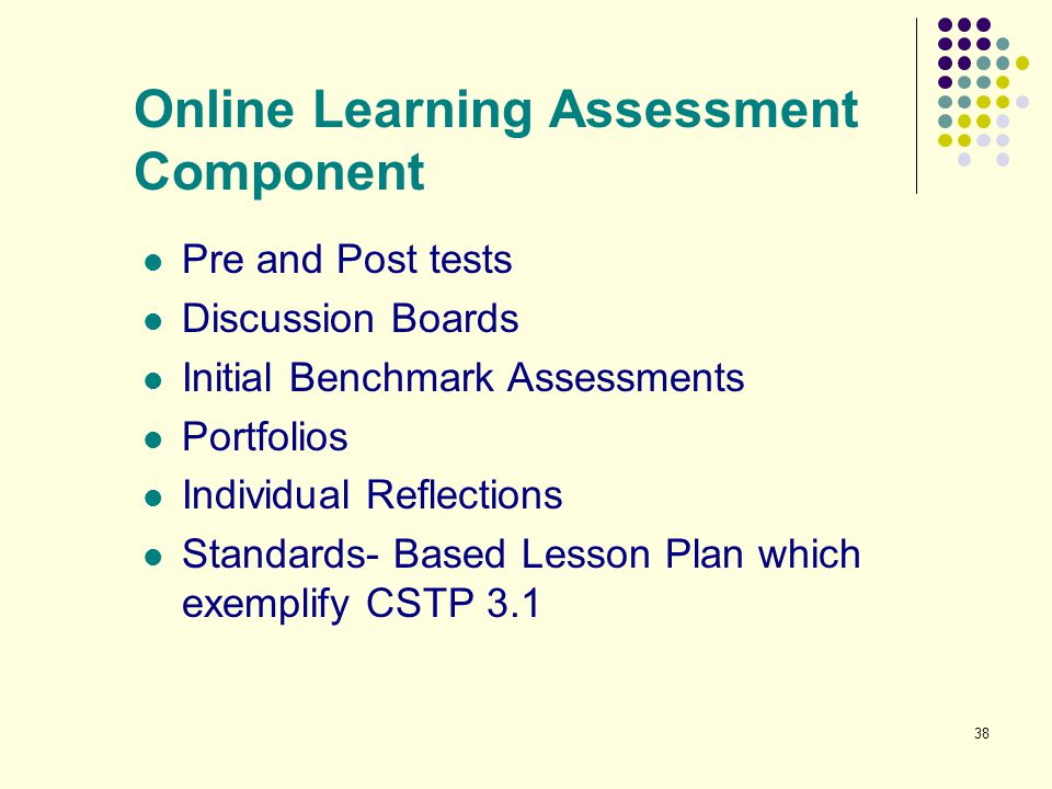 Online Learning Assessment Component