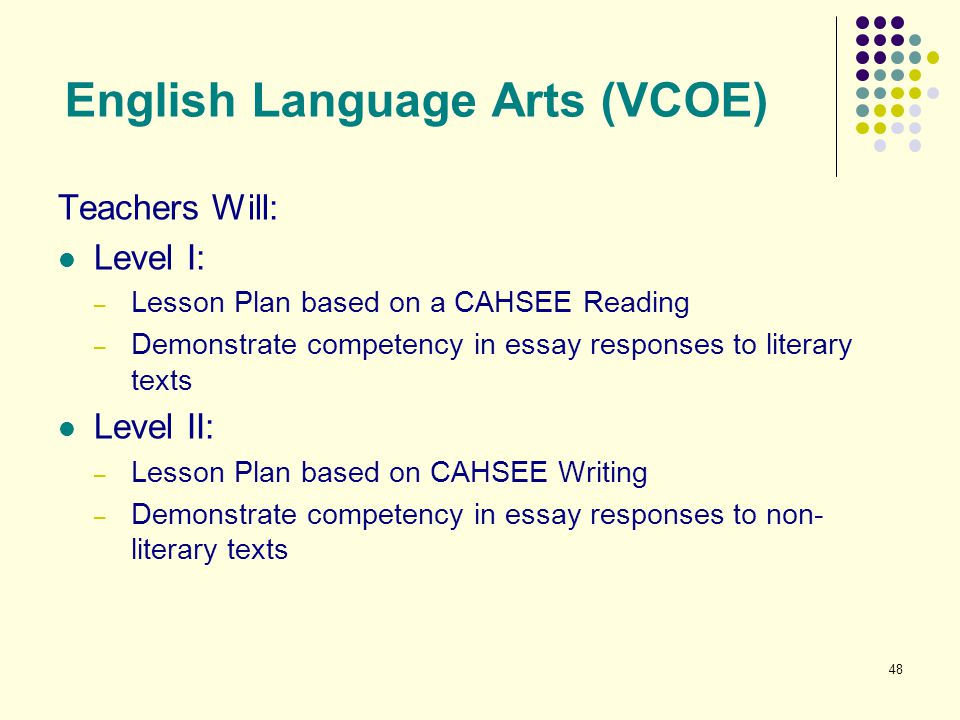 English Language Arts (VCOE)