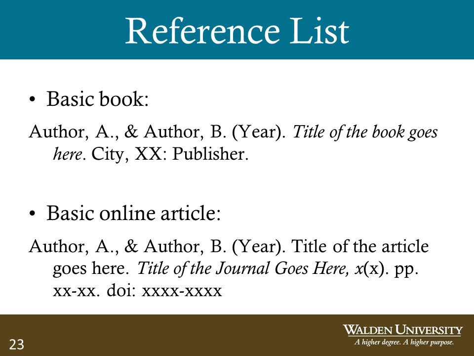 Reference List Basic book: Basic online article: