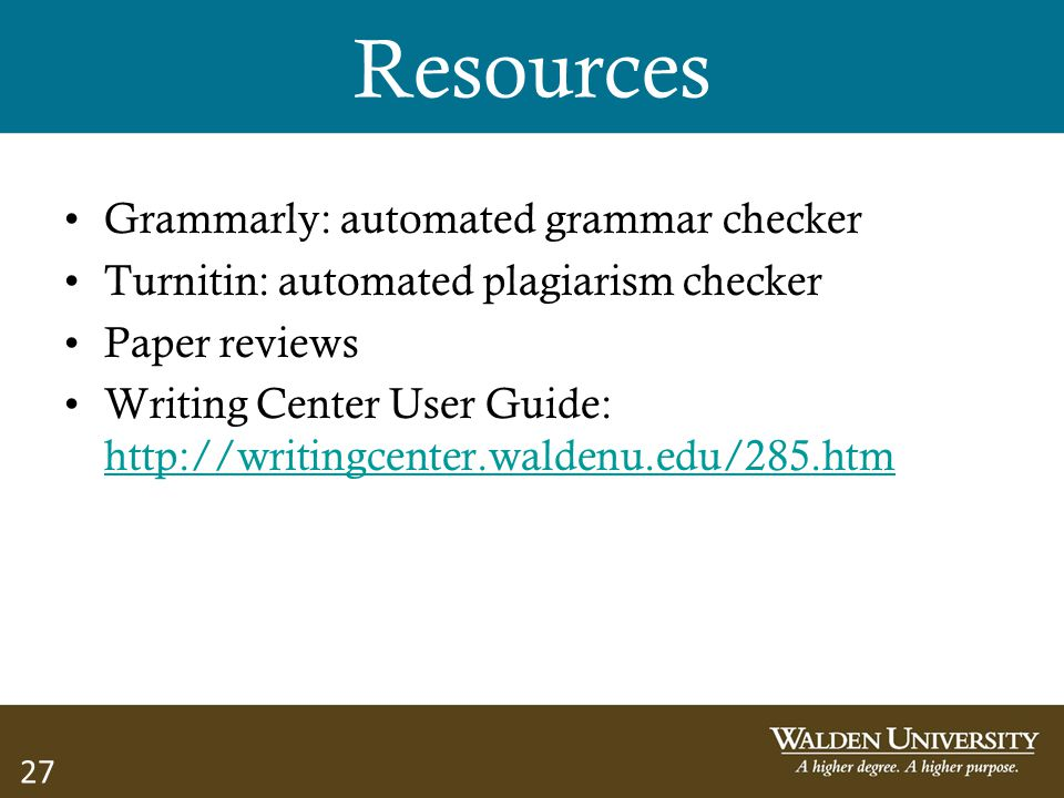 Resources Grammarly: automated grammar checker