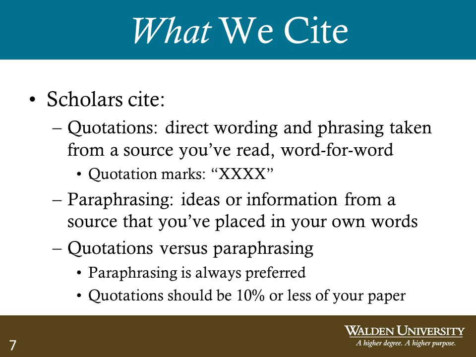 What We Cite Scholars cite: