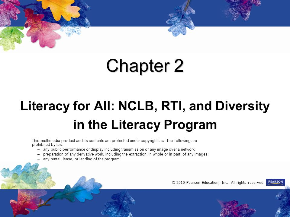 Literacy for All: NCLB, RTI, and Diversity in the Literacy Program