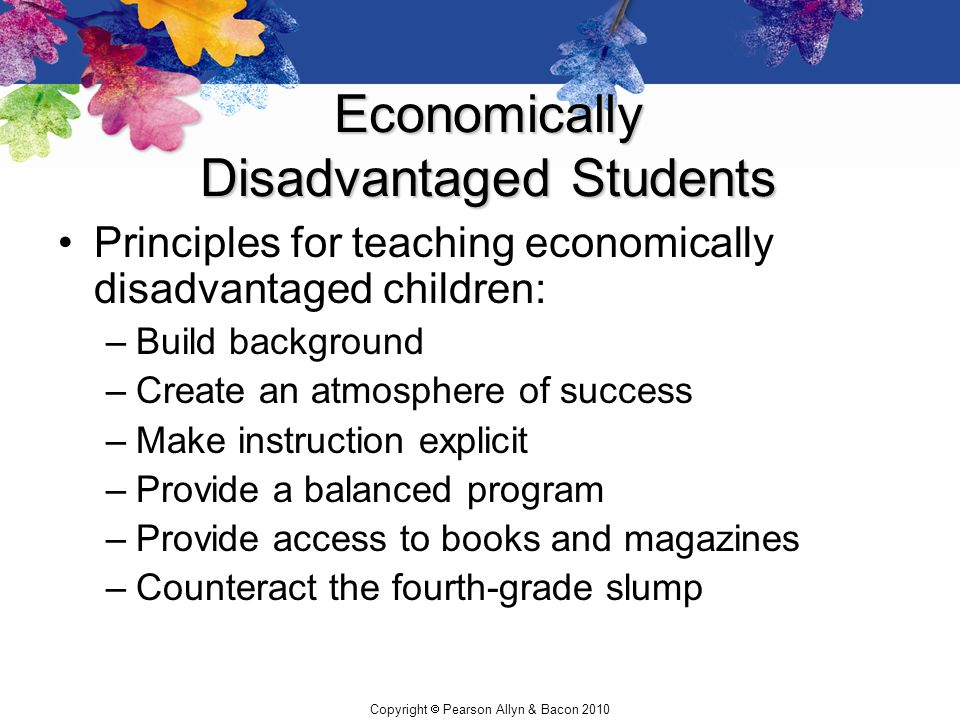 Economically Disadvantaged Students