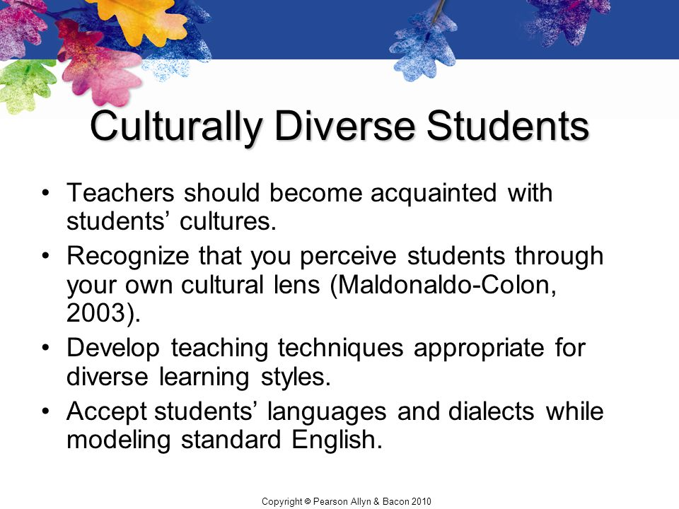 Culturally Diverse Students