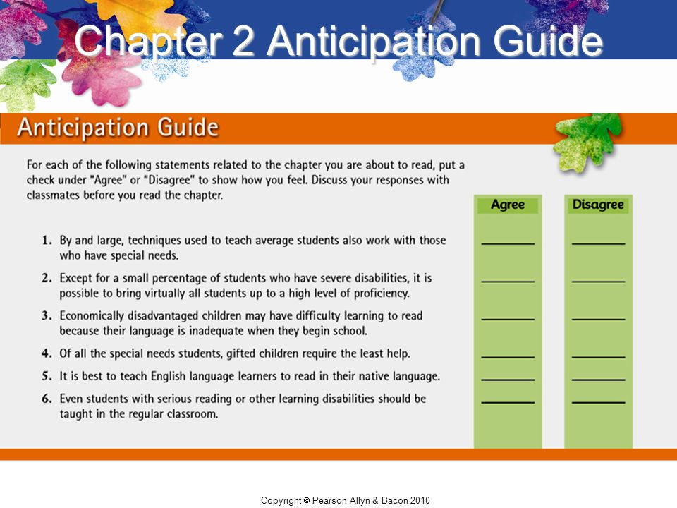 Chapter 2 Anticipation Guide