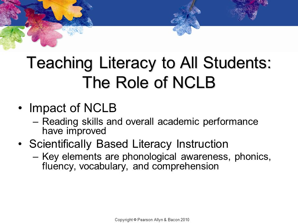 Teaching Literacy to All Students: The Role of NCLB