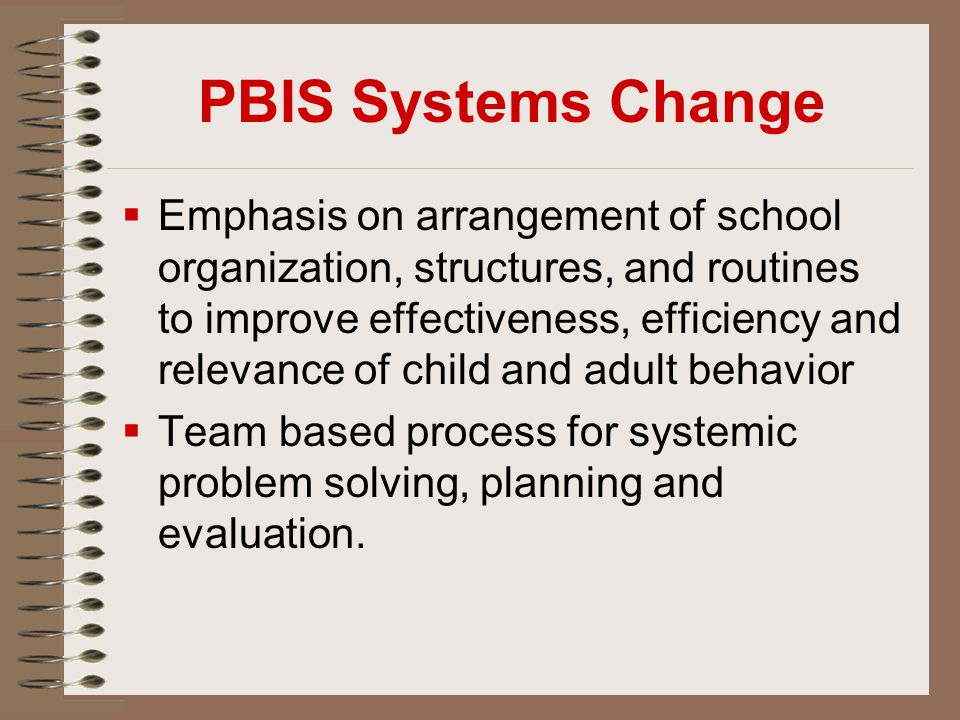 PBIS Systems Change