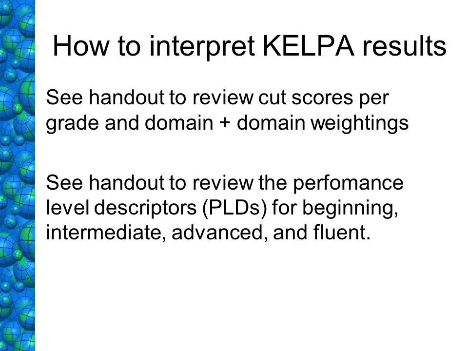 How to interpret KELPA results