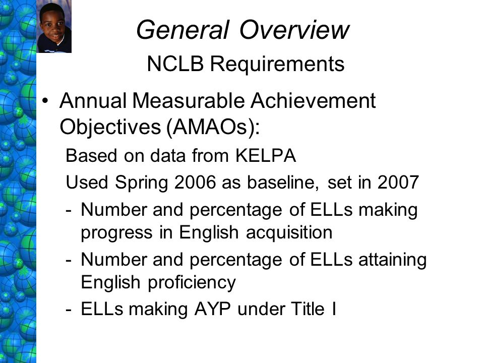 General Overview NCLB Requirements