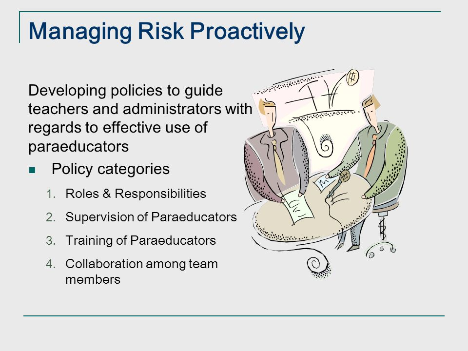 Managing Risk Proactively