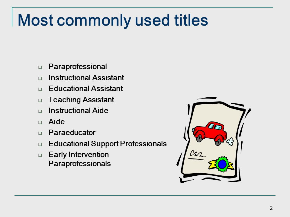 Most commonly used titles