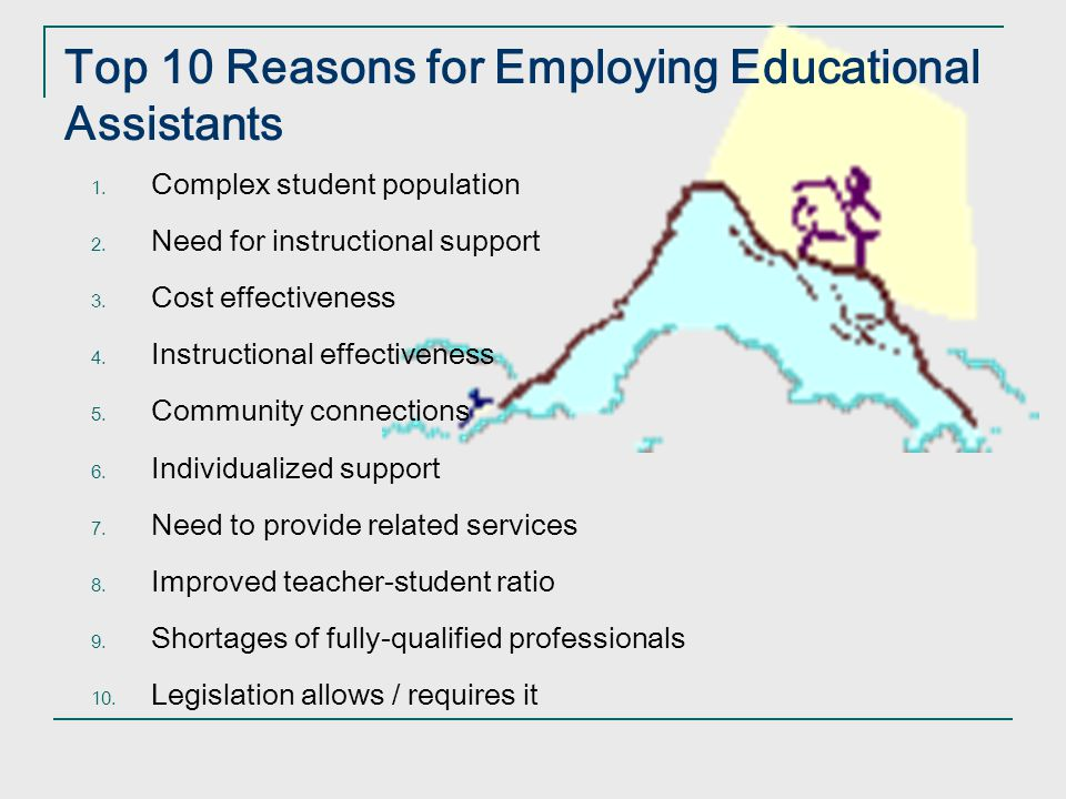 Top 10 Reasons for Employing Educational Assistants
