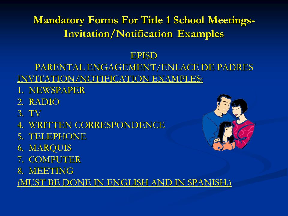 PARENTAL ENGAGEMENT/ENLACE DE PADRES