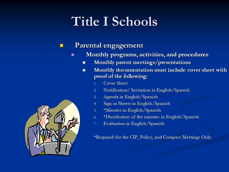 Title I Schools Parental engagement