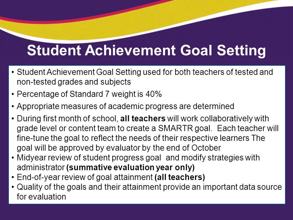 Student Achievement Goal Setting