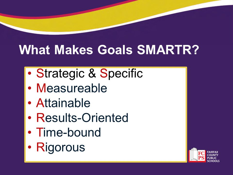 What Makes Goals SMARTR