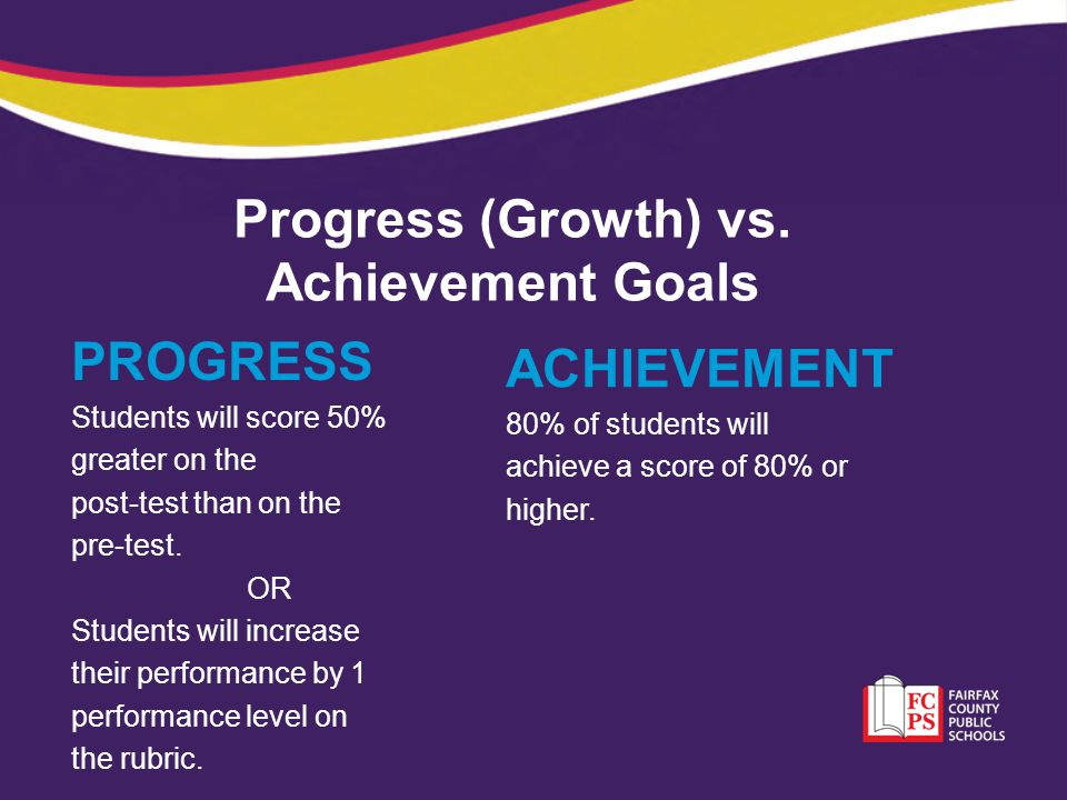 Progress (Growth) vs. Achievement Goals