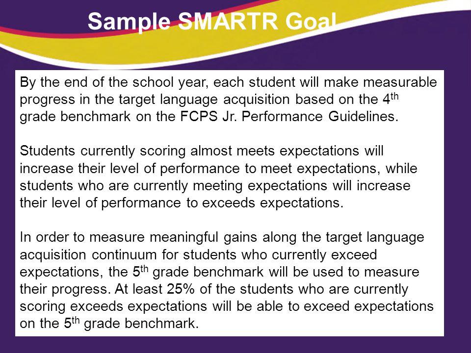 Sample SMARTR Goal