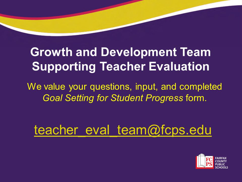 Growth and Development Team Supporting Teacher Evaluation