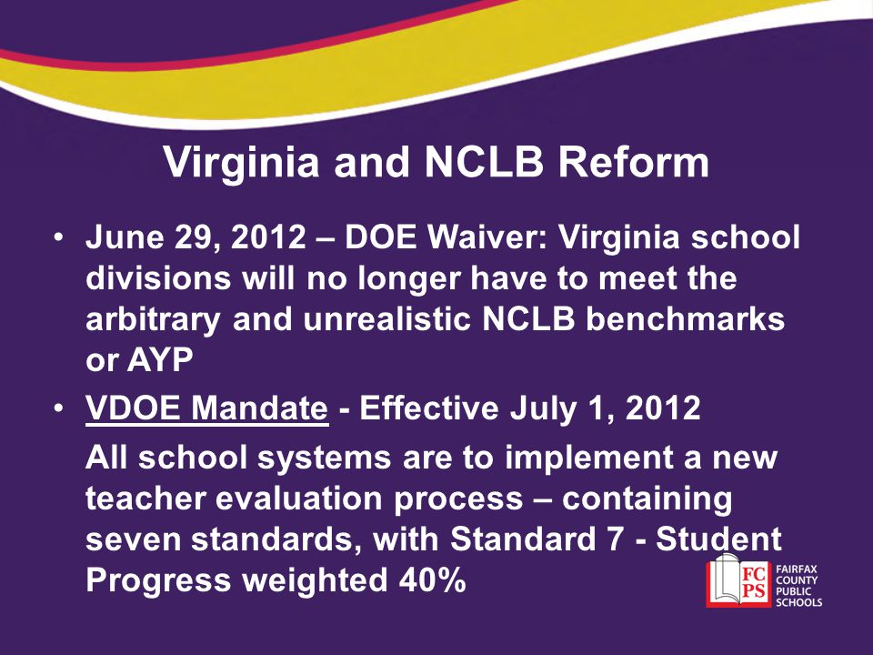 Virginia and NCLB Reform