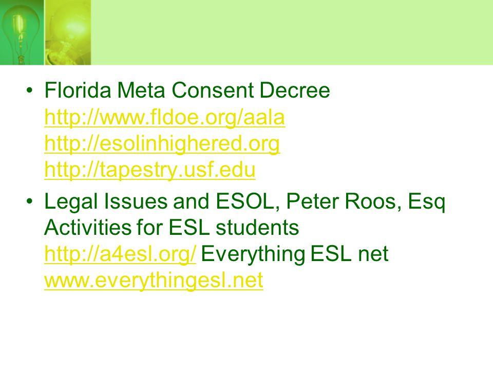 Florida Meta Consent Decree http://www. fldoe