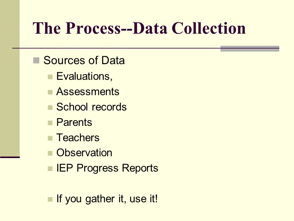 The Process--Data Collection