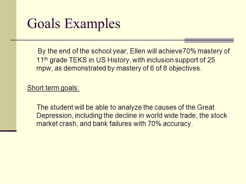Goals Examples