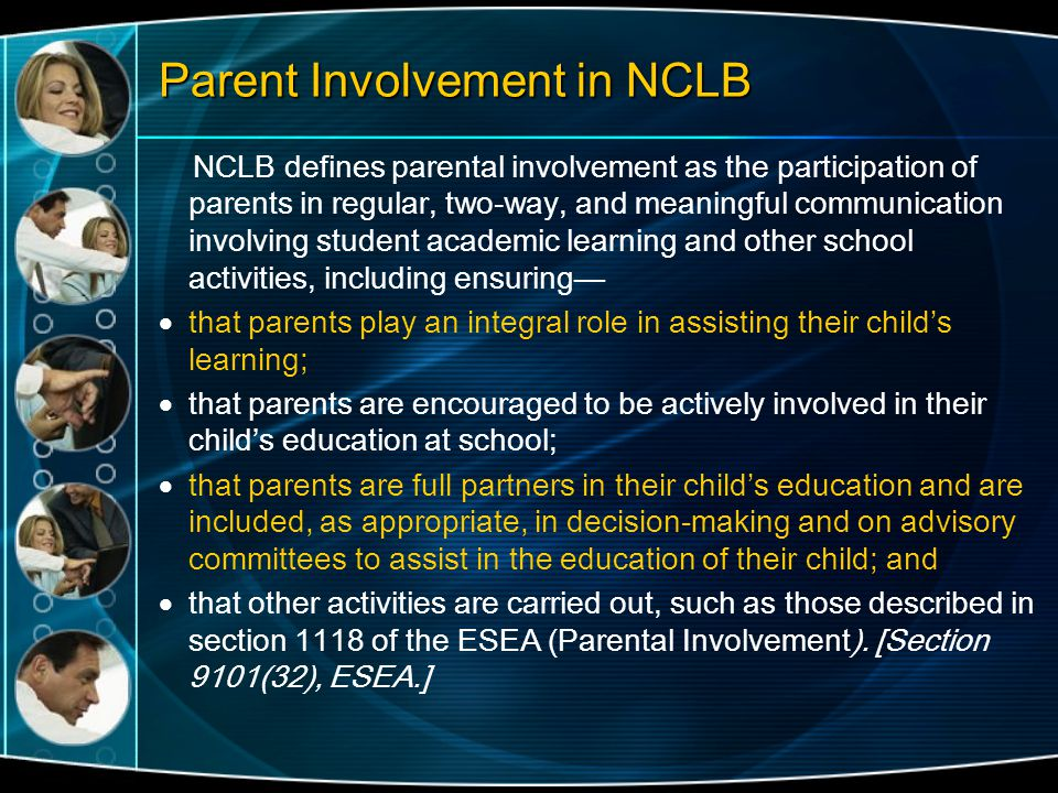 Parent Involvement in NCLB