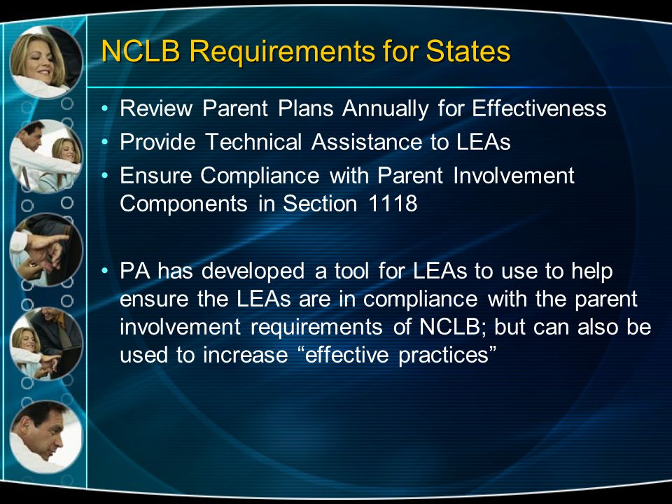 NCLB Requirements for States